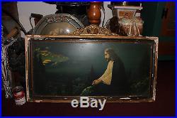 Antique Jesus Christ Christianity Religious Print On Metal-Framed-Jesus At City