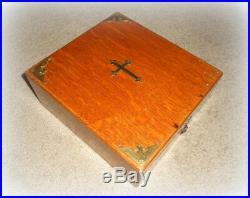 Antique Last Rites Sick Call Holy Communion Catholic Religious Box 1897