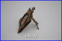 Antique Madonna Plaques Miniature Oval Painting Porcelain