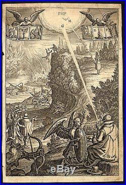 Antique Master Print-EMBLEM-PRAYER-SHIELD-DEVIL-Bolswert-1620