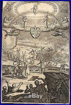 Antique Master Print-HELL-HEAVEN-JUDGEMENT-RISING DEAD-Bolswert-1620