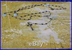 Antique Nuns Habit Rosary WithAntique Medals Crucifix Religious Catholic Rosary