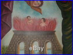 Antique Oil Painting Religious Italian Madonna Guilded