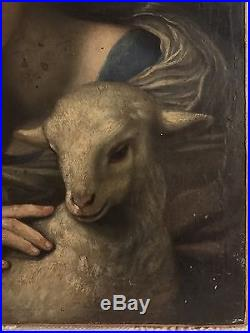 Antique Old Master Oil on Canvas Painting Origin Unknown Unsigned 16th century