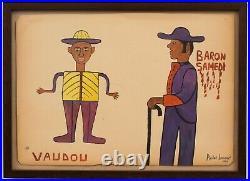 Antique Original Collectible Haitian Art Painting Andre Laurent Voodoo Haiti