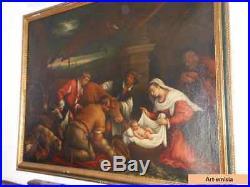 Antique Original Italian Baroque Painting Oil on Canvas 16th C Circle of Bassano