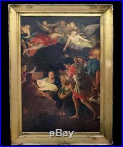 Antique Original Spanish Baroque Painting Oil on Canvas 17th Century 58.3x36.2