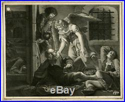 Antique Print-RELIGION-SAINT PETER-RESCUE-ANGEL-Zampieri-Heine-ca. 1827