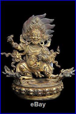 Antique Rare Unique Buddha Vajrapani Hindu Buddhist Religious Statue