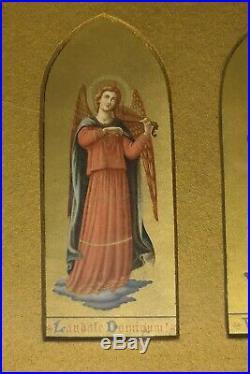 Antique Religious Catholic Christian Art Print Music 12 Deities Worship Faith