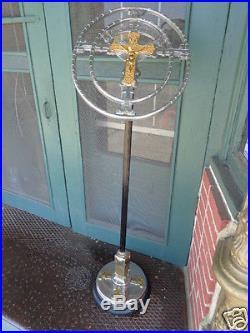 Antique Religious Catholic Crucifix Spiritual Bouquets Art Deco Funeral Stand