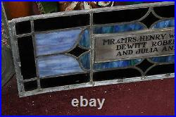 Antique Religious Church Stained Glass Window Henry White Architectural Window