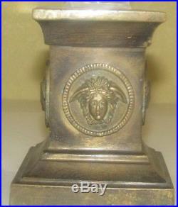 Antique Religious Finial Obelisk Brass, Clear, Horned God, Ammon, Pan, Mercury