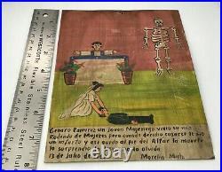 Antique Retablo Ex-Voto Painting on Mexican Spanish Colonial Religious Art 6X8