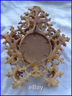 Antique Rococo Gold Gilt Italian Florentine Wood Frame Religious Print Estate