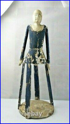 Antique Santos Wooden Religious Carved Cage Doll 27