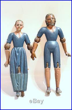 Antique Spanish Colonial Joseph & Mary Dolls