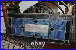 Antique Stained Glass Leaded Church Window Religious Edith Howard Large