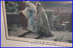Antique The Return From Calvary Color Print-Herbert Schmalz-1906-Louis Wolf