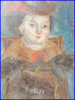 Antique Tin Mexican Religious Retablo Mexico Catholic Christian Folk Art