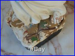 Antique Vintage Plaster Chalkware Madonna Mary Religious Statue Figure 52 cm