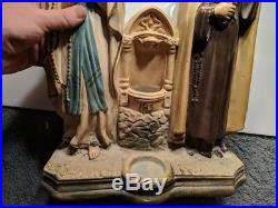 Antique Vtg 1928 Chalkware Religious Statue Mary Catholic St Theresa PS Co PA