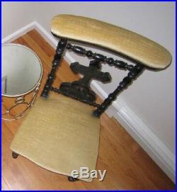 Antique c 1880's Victorian Prie-dieu Catholic Religious Prayer Chair Steampunk