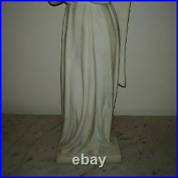 Antique large French Religious Art marble sculpture beautiful angel praying 1890