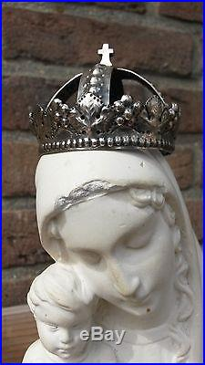 Antique religious French holy crown from large holy statue baby jesus holy crown
