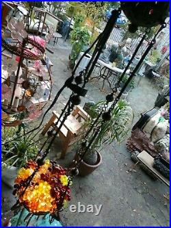 Antique religious church crystal chandelier Czechoslovakian glass