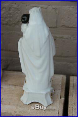 Antique vieux paris porcelain madonna figurine religious