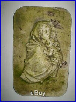 Architectural Salvage, Religious 1930s French Madonna & Child Statue wall plaque