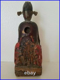Asian Wood Carved Religious Figure (Santos Figure)