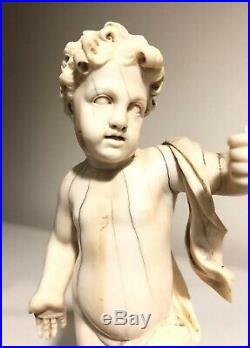 Austrian/German 18th C Religious carving Christ child Jesus Dieppe Style