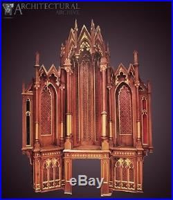 Beautiful 19th Century Gothic Church Canopy Religious Catholic Cathedral