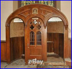 Beautiful Gothic Church Religious Carved Wood Confessional Surround Jj86