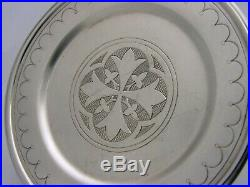 Beautiful Victorian Sterling Silver Holy Communion Paten 1891 Religious Antique