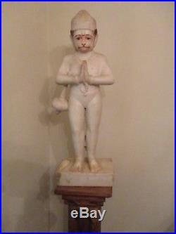 Big & Bold Antique Carved Marble Monkey Statue 33 Art Sculpture Figurine