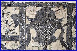 C18th Metallic Silk Embroidered Chasuble Apron Ecclesiastical Religious Textlile