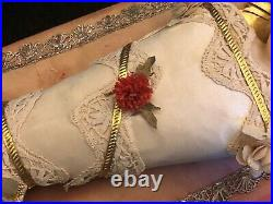 Child Jesus Swaddling Doll of Wax Silk Work Of Covent & Religious