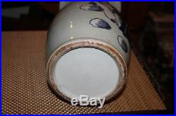 Chinese Blue & White Porcelain Pottery Vase-Religious Scholars Men Elderly-Asian