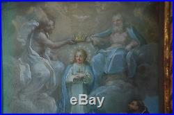 Circa 1700 Antique Baroque Mannerist Spanish Colonial Retablo Painting