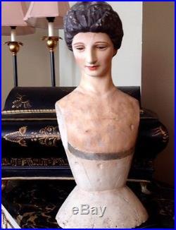 Cody Foster Antique European Style Santos Religious Icon 18 Madonna Bust