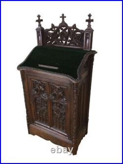 Decorative Antique French Gothic Bible Stand, Oak, 19th Century, Religious