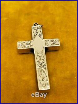 Edwardian 9k Rose Gold Handmade Cross Pendant Antique 9ct Unique Rare