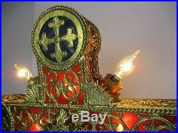 Exquisite Chandelier Crucifix Cross Church Pendant Religious Ormolu 8 Lights WOW