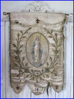 Shabby Frankreich frankreich antik kirchen banner hl. maria french antique religious