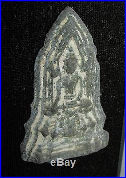 Framed Group Antique Thai Burmese Ceramic Religious Buddha Reliefs