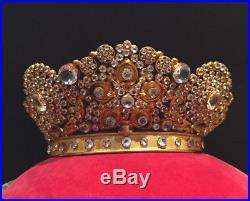 French 19th Century Antique Religious Santos Crown Tiara Coronet Wedding Vintage