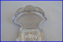 French Antique Religious Crystal Glass Holy Water Font 19th